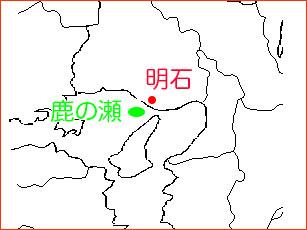 明石・鹿の瀬の地図